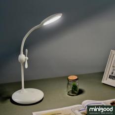 minigood NEW ITEM lampu hias meja belajar kerja desk lamp tombol sentuh kipas diputar dicharge