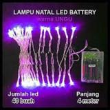 Lampu Natal Led Baterai Batre A2 Panjang 4 Meter Nls Sparepart Diskon 50