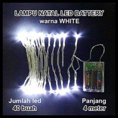 Harga Lampu Natal Led Baterai Batre A2 Panjang 4 Meter Yang Bagus