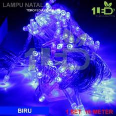 Lampu Natal LED Biru Twinkle Light hias pohon Christmas  -biru