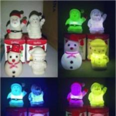 lampu natal santa klaus boneka salju snowman lapu tidur berubah warna grosir ecer dropship reseller murah