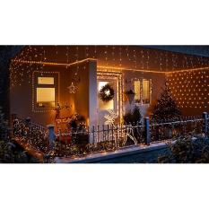 Cuci Gudang Lampu Natal Tirai Led Led Tirai Led Net Warm White