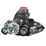 Jual Lampu Senter Kepala T6 High Power Headlamp Cree Xm L T6 5000 Lumens Satu Set