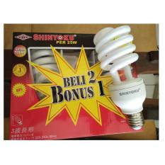 Lampu Shinyoku Spiral / 1 Paket Isi 3 Pcs Lamp / Garansi 1 Tahun