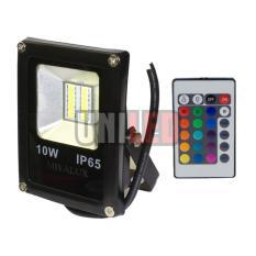 Lampu Sorot LED Warna-Warni RGB 10watt SMD Remote Control