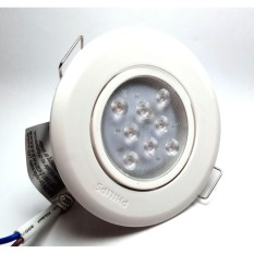 LAMPU SPOT SOROT DOWNLIGHT LED PHILIPS 3 WATT WARNA KUNING BODY PUTIH