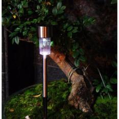 lampu taman / jual Lampu taman tancap stainless 1 LED 37 cm solar power tenaga surya