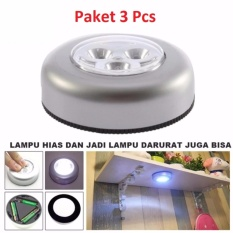 Lampu Tempel LED - Touch Lamp Stick And Click Emergency - 3 Pcs