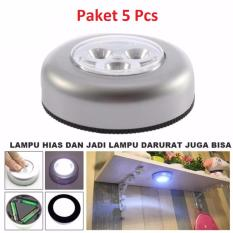 Lampu Tempel LED - Touch Lamp Stick And Click Emergency - 5 Pcs