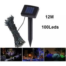 LAMPU TENAGA SURYA / SOLAR 100 LED UTK TAMAN DAN POHON / PAGAR RUMAH