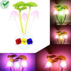 Lampu Tidur Jamur Sensor Cahaya - 1 Pcs Multicolor