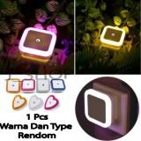 Spesifikasi Lampu Tidur Led Sensor Cahaya Eu Plug 1 Pcs Warna Rendom Yang Bagus