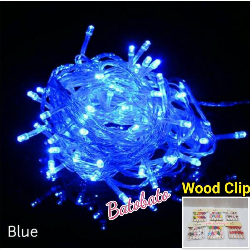 Lampu Tumblr Wood Clip 10 Meter 100 Led Lampu Led Lampu