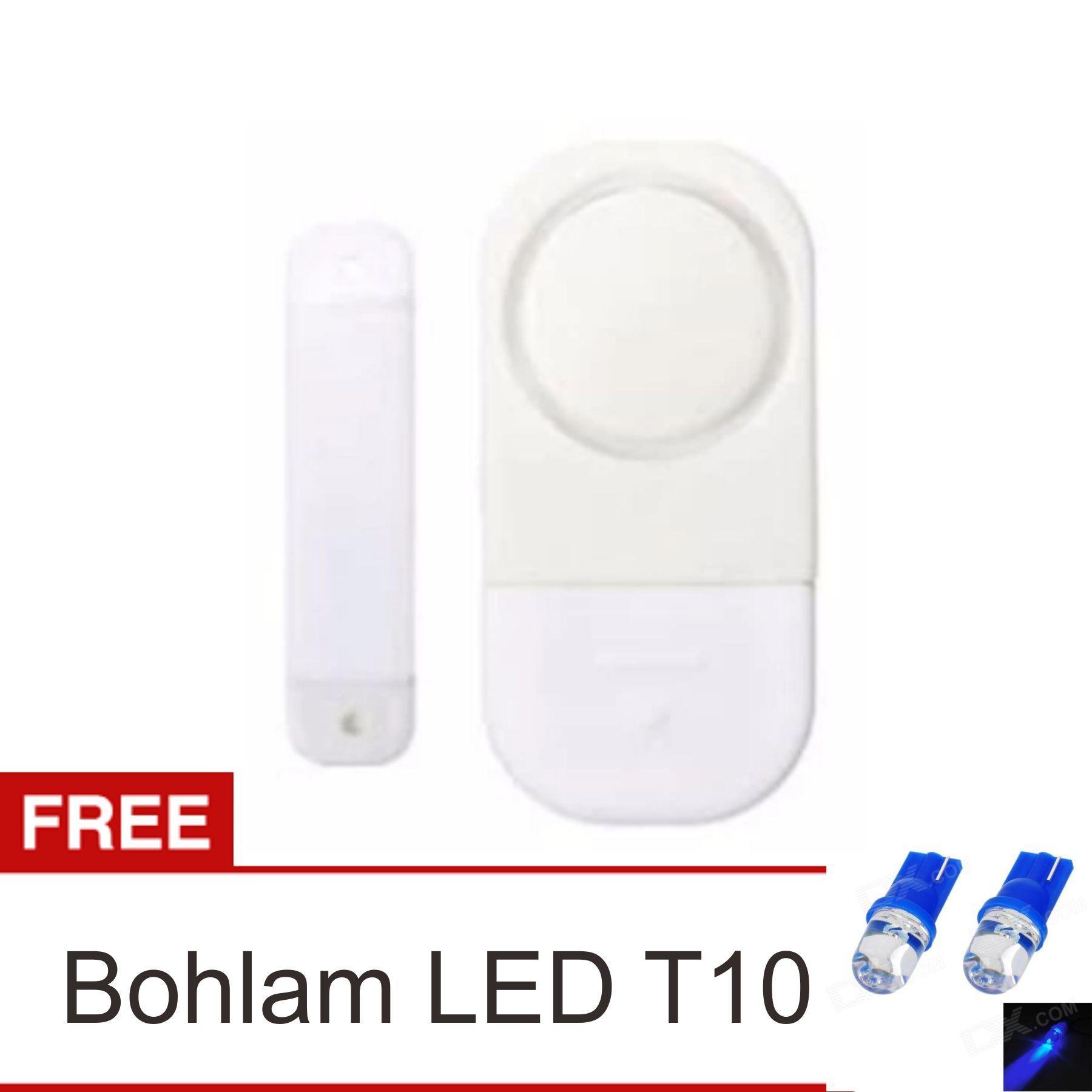 Pencarian Termurah lanjar jaya Alarm Pintu Jendela Rumah Anti Maling - Door Window Entry Alarm + Bohlma LED T10 harga penawaran - Hanya Rp13.152