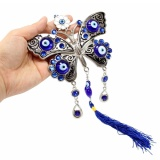 Diskon Besar Blue Evil Eye 5 Lucky Butterfly Perlindungan Amulet Wall Hanging Home Decor Intl Akhir Tahun