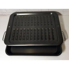 LARGE BROILER PAN COOK'S HABIT W/ HANDLE 42,5CM X 32CM - ACS00096