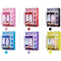 Large Cabinet DIY Magic Piece Cube Rak Baju Lemari Clothes Rack Deluxe