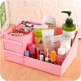 Spesifikasi Large Desk Storage Box Lipstick Jewelry Skin Care Cosmetics Drawer Dresser Pink Intl Dan Harganya