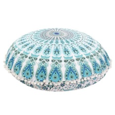 Review Bantal Lantai Mandala Besar Round Bohemian Meditasi Cushion Cover Ottoman Pouf Intl Not Specified Di Tiongkok