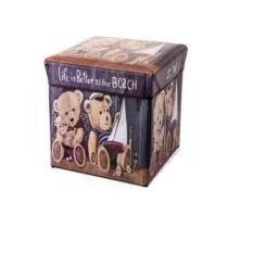 Larisashop Surabaya - Storage Box / Tempat Mainan / Majalah / Kursi Organizer - Bear