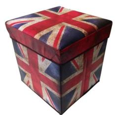 Larisashop Surabaya - Storage Box / Tempat Mainan / Majalah / Kursi Organizer - British Flag
