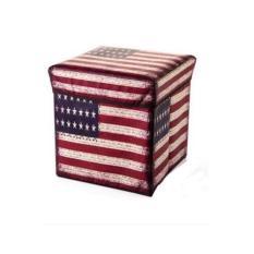 Larisashop Surabaya - Storage Box / Tempat Mainan / Majalah / Kursi Organizer - USA Flag
