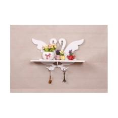 Lars - Mh498 Rak Dinding Vintage Angsa Swan Dengan 2 Buah Hook Megahome By Healthyfashionable.