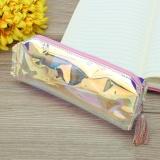 Promo Laser Pensil Zip Bag Case Makeup Kotak Transparan Hologram Warna Metalik Pouch Pink Intl Not Specified Terbaru