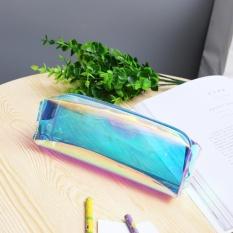 Harga Laser Pensil Zip Bag Case Makeup Kotak Transparan Hologram Warna Metalik Pouch Biru Asli Not Specified