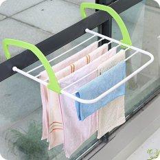 Laundry Pakaian dan Sepatu Serbaguna Dapat Dilipat Gantungan Baju Rack Storage Organizer-Intl