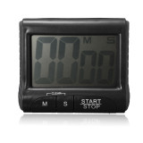 Lcd Digital Screen Magnetic Cooking Kitchen Timer Count Down Up Clock Loud Alarm Black Murah