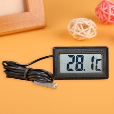 LCD Tertanam Digital Termometer untuk Lemari Es Akuarium Tangki Rumah Dapur-Internasional