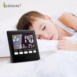 Layar Lcd Digital Indoor Prakiraan Cuaca Suhu Kelembaban Monitor Alarm Clock Hitam Leegoal Diskon 50