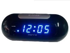 Harga Led Clock Jam Meja Digitime 0626 Led Biru Hitam Terbaru