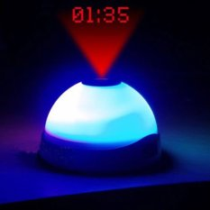 Review Tentang Led Clock Star Night Light Magic Projection Alarm Table Clock Putih