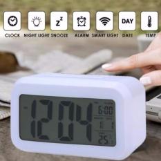 Katalog Led Digital Alarm Jam Pagi Backlight Jam Alarm Listrik Dengan Dimmer Baterai Dioperasikan Layar Lcd Besar Tampilan Suhu Nightlight Dan Tunda Putih Intl Oem Terbaru