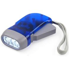LED Hand-pressing Flash Light - Senter Pompa - Tanpa Baterai