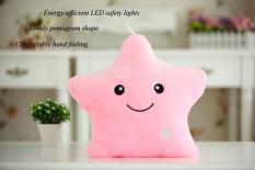Spesifikasi Led Light Luminous Star Plush Doll Pillow Toy Pink Intl Terbaik