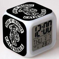 LED Bercahaya Kreatif Kecil Alarm Clock-Intl
