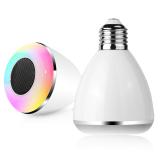 Harga Led Multicolor Light Bulb Bluetooth Speaker Dl Pc002 White Baru Murah