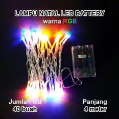 LED Tumblr RGB(Red+Green+Blue) Baterai A2 Lampu Hias Natal LED Baterai  - 4 Meter