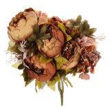 Jual Leegoal 1 Bouquet Buatan Peony Sutra Bunga Home Dekorasi Pernikahan Cokelat Kehitaman Di Bawah Harga