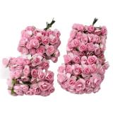 Spek Leegoal 12 Karangan Bunga Bunga Mawar Palsu Kertas Tisu Untuk Pernikahan And Dekorasi Rumah 144 Buah Merah Muda Yang Mendalam Tiongkok