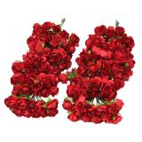 Toko Leegoal 12 Karangan Bunga Bunga Mawar Palsu Kertas Tisu Untuk Pernikahan And Dekorasi Rumah 144 Buah Merah Dekat Sini