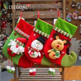 Leegoal 3 Pcs Set Kaos Kaki Natal Dekorasi Natal Kaus Kaki Tas Kado Permen Bag For Kids Intl Leegoal Diskon 40