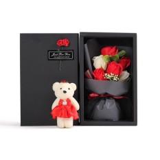 Toko Leegoal 6 Pcs Buatan Soap Rose Flowers Flora Dengan Baby Bear Doll Di Ukuran Untuk Hari Ibu Pernikahan Hadiah Intl Terlengkap Di Tiongkok
