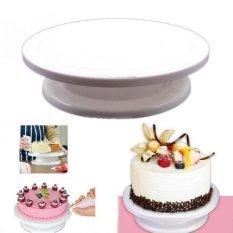 Leegoal Alat-Alat untuk Make A Cake Dapat Diputar Berputar Putar Piring Kue Ulang Tahun