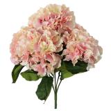 Kualitas Leegoal Buatan Semacam Bunga 5 Kepala Bouquet Pesta Rumah Besar Dekorasi Pernikahan Berwarna Merah Muda Leegoal