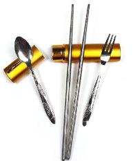 Ulasan Tentang Leegoal Makan Portabel Mini Portabel Stainless Steel Perjalanan Barang Pecah Belah Warna Acak