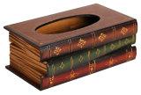 Toko Leegoal Buku Retro Kayu Penutup Kotak Dispenser Tisu Serbet Pemegang Penyelenggara Kopi International Lengkap